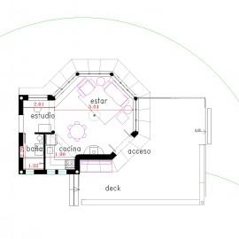 Casa Octógono con deck