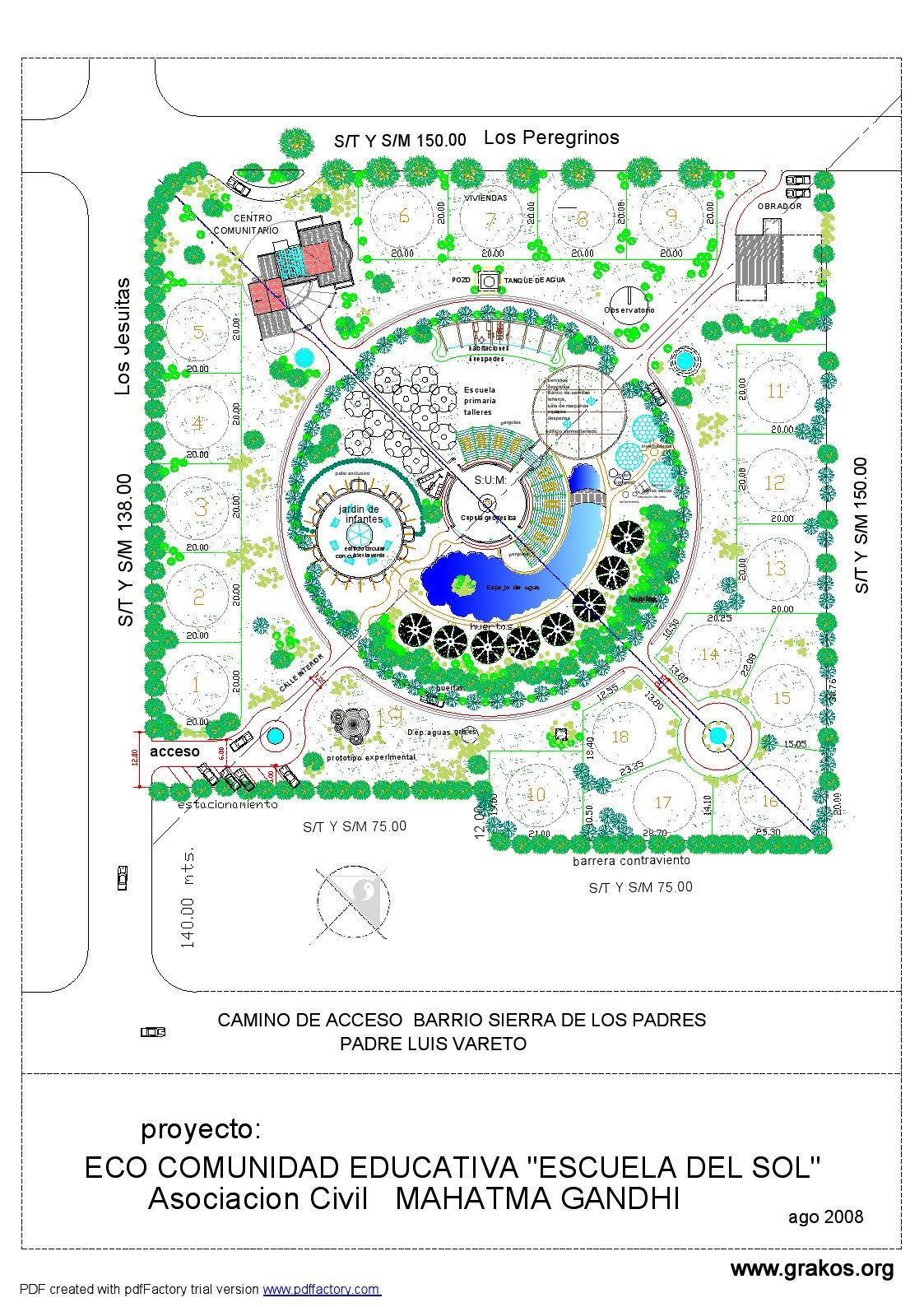 Proyecto Urbanistico Escuela del Sol