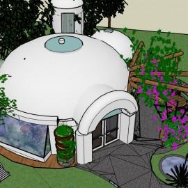 Casa cúpula de 50 m2