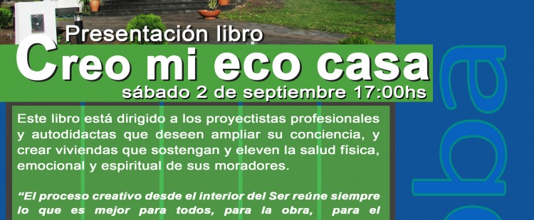 2017 09 02 Afiche Presentación Libro ECO CASA